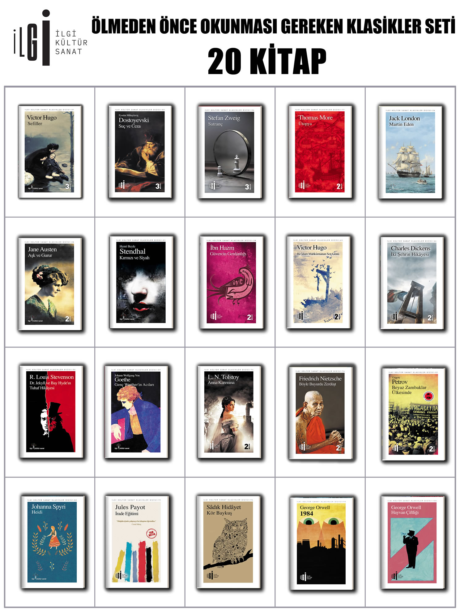 Ölmeden Önce Okunması Gereken Klasikler Seti 20 Kitap