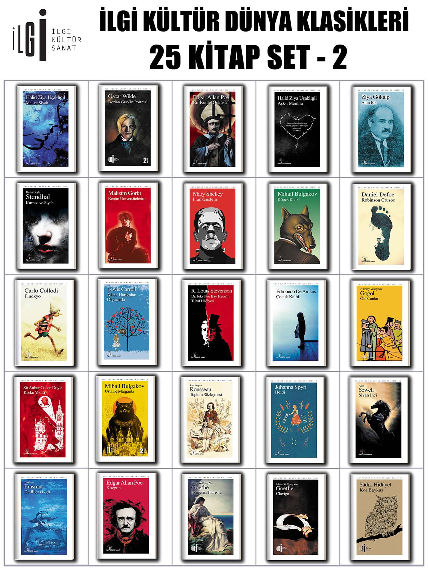 İlgi Kültür Dünya Klasikleri 25 Kitap Set - 2